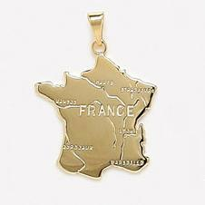 Pendentif Carte Pays France 25 mm