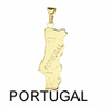 Pendentif Carte Pays PORTUGAL 27 mm