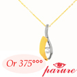 Chaines Pendentifs Or Massif 9k (375/1000)